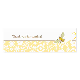 Bumble Bee Favor Tag Business Cards