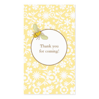 Bumble Bee Favor Tag Business Card