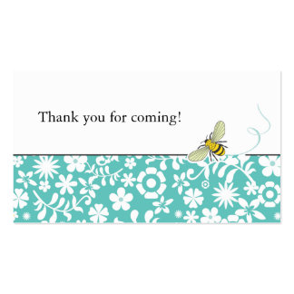 Bumble Bee Favour Tag or Business Card  |  Blue