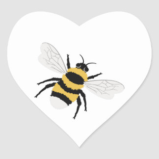Bumble Bee Heart Sticker