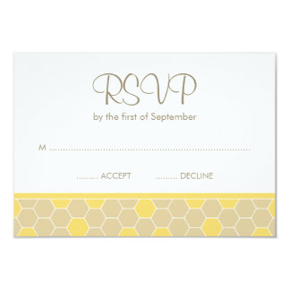 "Bumble Bee Honey Baby Shower RSVP 3.5"" X 5"" Invitation Card"