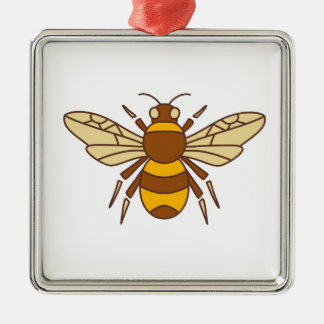 Bumble Bee Icon Metal Ornament