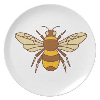 Bumble Bee Icon Plate