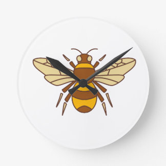 Bumble Bee Icon Round Clock