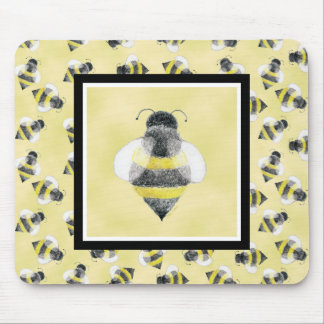 Bumble Bee Illustration Mousepad