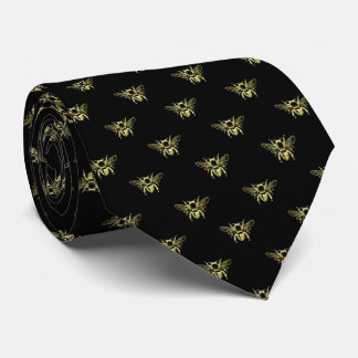 Bumble Bee in Gold Your Background Color Tie