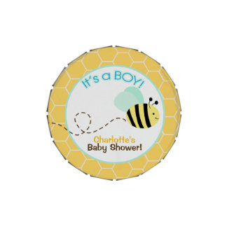 Bumble Bee It's a Boy Baby Shower Favor Tin Jelly Belly Tin