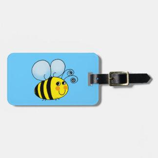 Bumble bee luggage tag