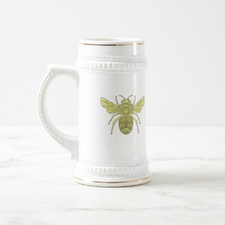 Bumble Bee Mandala Beer Stein