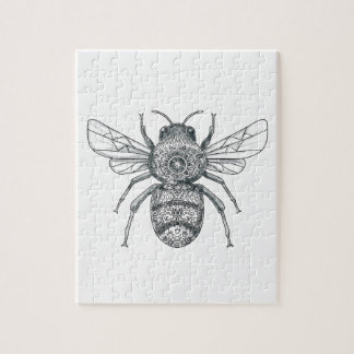 Bumble Bee Mandala Tattoo Jigsaw Puzzle