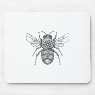 Bumble Bee Mandala Tattoo Mouse Pad