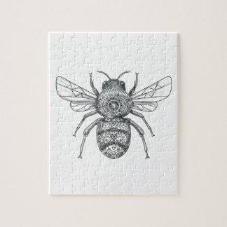 Bumble Bee Mandala Tattoo Puzzle