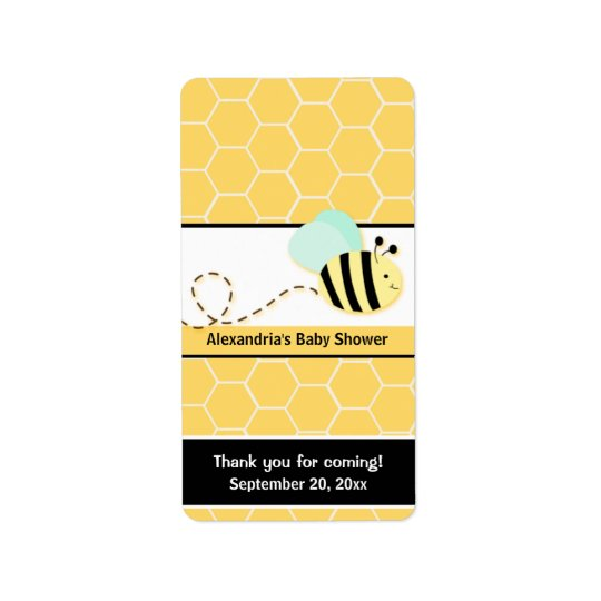 Bumble Bee Miniature Candy Wrappers Label
