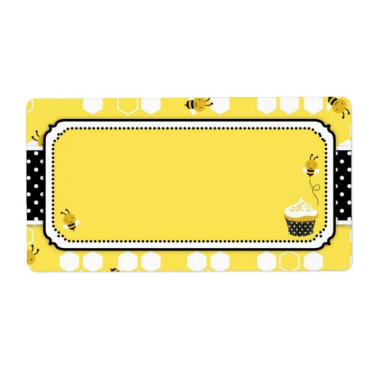 Bumble Bee Name Tag Shipping Label