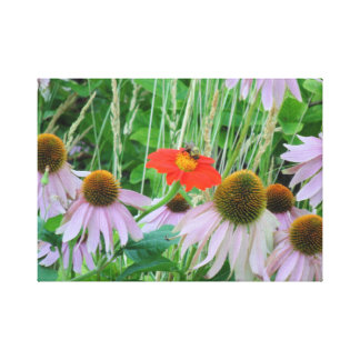 Bumble Bee on Flowers Canvas Print