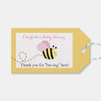 Bumble Bee Pink Wings #2 Gift Tags Pack Of Gift Tags