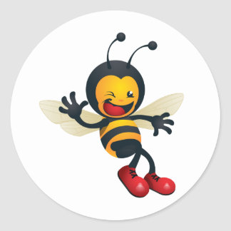 bumble_bee.png classic round sticker