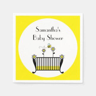 Bumble Bee Polka Dot Baby Shower Paper Napkins