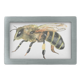 Bumble bee rectangular belt buckle