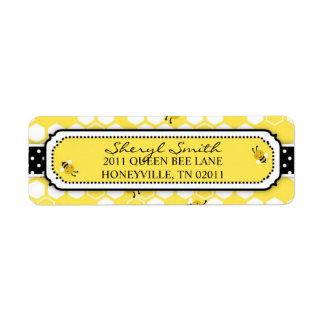 Bumble Bee Return Label