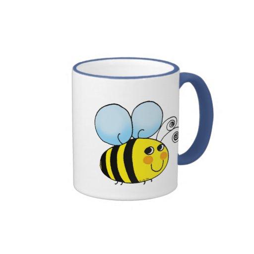Bumble bee ringer coffee mug