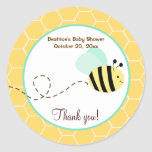 Bumble Bee Round Favour Sticker