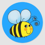 Bumble bee round stickers