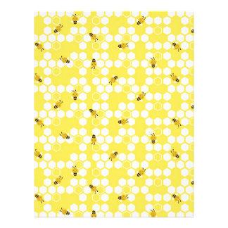 Bumble Bee Scrapbook Paper Letterhead Template