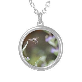 Bumble Bee Silver Plated Necklace