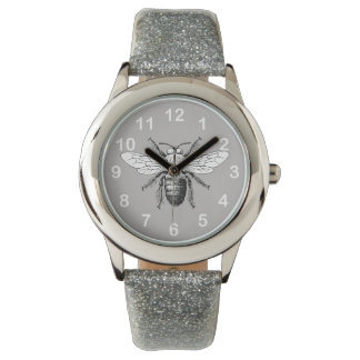 Bumble Bee Stylish Cute Gray Summer Winged Insect Watch