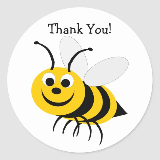 Bumble Bee Thank You Sticker
