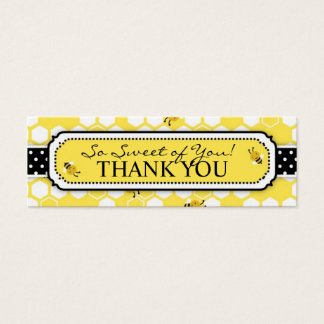 Bumble Bee TY Skinny Gift Tag 2 Mini Business Card