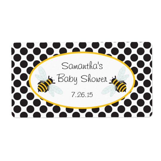 Bumble Bee Water Bottle Label