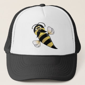Bumble Bee with Mustache Trucker Hat