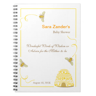 Bumble Bee  |  Words of Advice Baby Shower Notepad Notebook