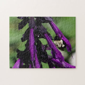 Bumble Bee, Wrapped Canvas Print. Jigsaw Puzzle