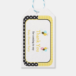 Bumble Bee Yellow and Black Thank You Gift Tag Pack Of Gift Tags