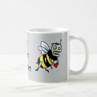 Bumble Bee zombie funny cartoon mug
