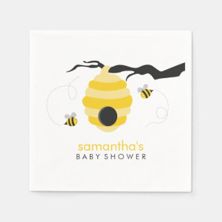 Bumble Bees Baby Shower Disposable Napkins