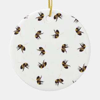 Bumble Bees Ceramic Ornament