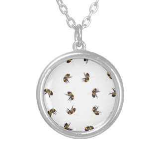 Bumble Bees Silver Plated Necklace