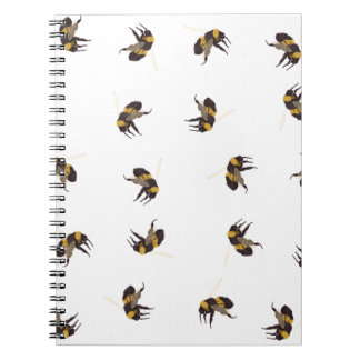 Bumble Bees Spiral Notebook