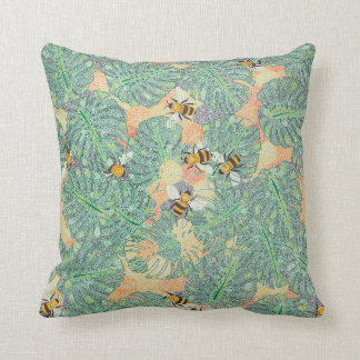 Bumble In The Jungle Pillow