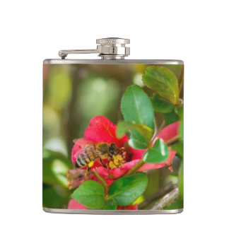 Bumblebee And Azalea Hip Flask