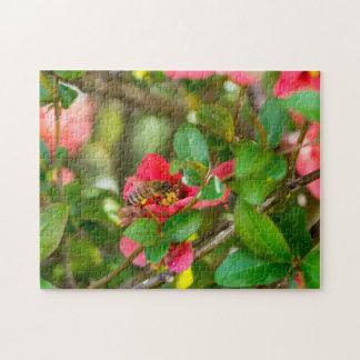 Bumblebee And Azalea Jigsaw Puzzle