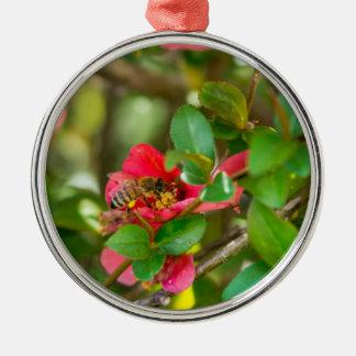 Bumblebee And Azalea Metal Ornament