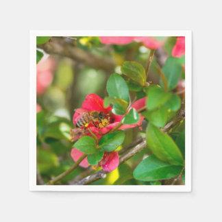 Bumblebee And Azalea Paper Napkins