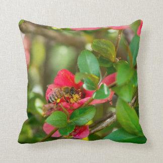 Bumblebee And Azalea Throw Pillow