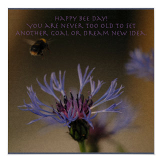 Bumblebee and Cornflower Card