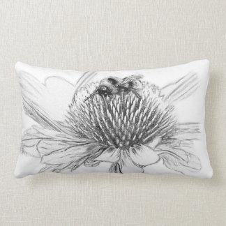 Bumblebee and flower lumbar pillow